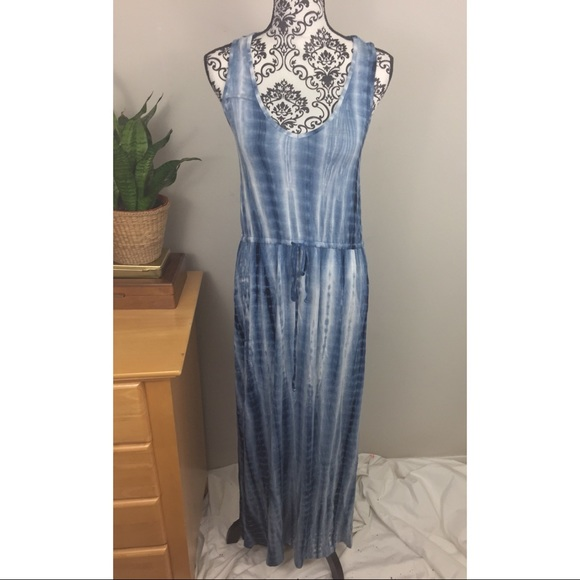 daniel buchler Dresses & Skirts - Blue and white maxi tie-dye dress